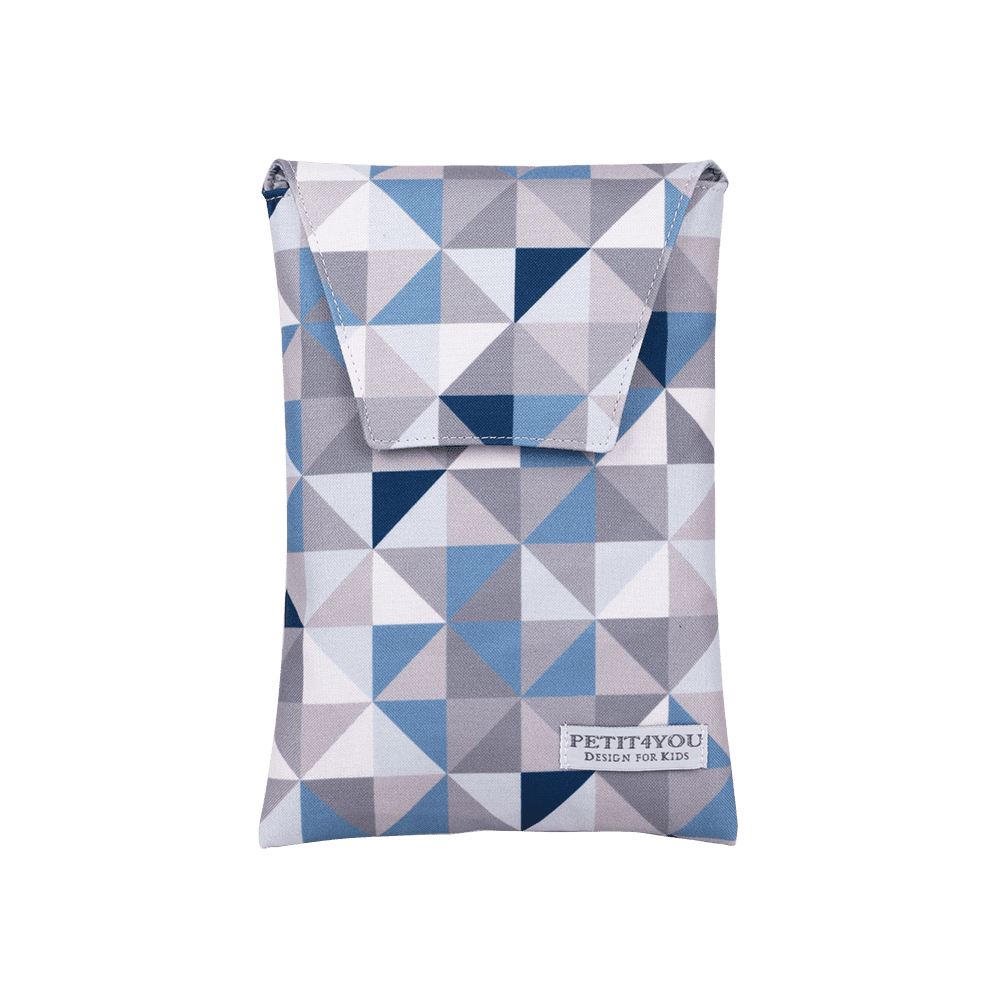 Porta Fralda Geometric Azul