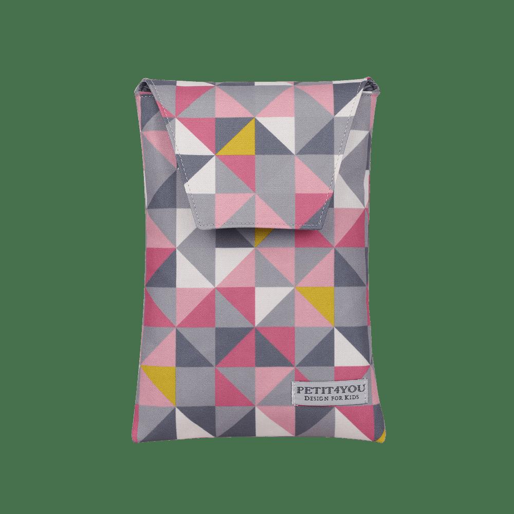 Porta fralda geometric rosa