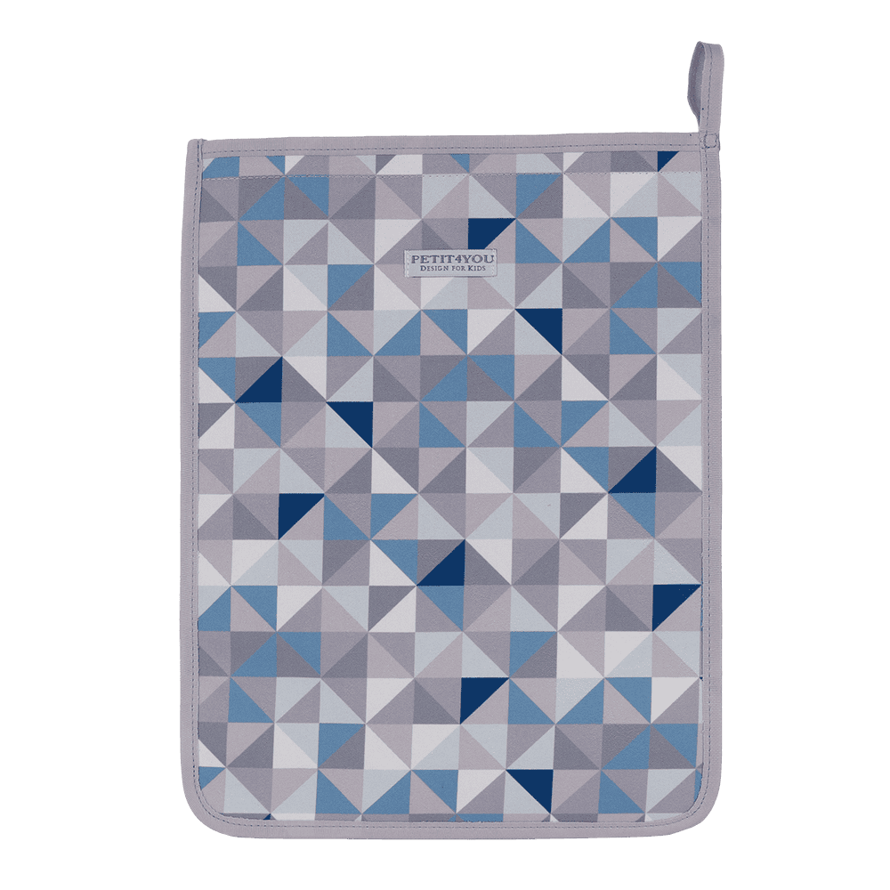 Saco de roupa geometric azul