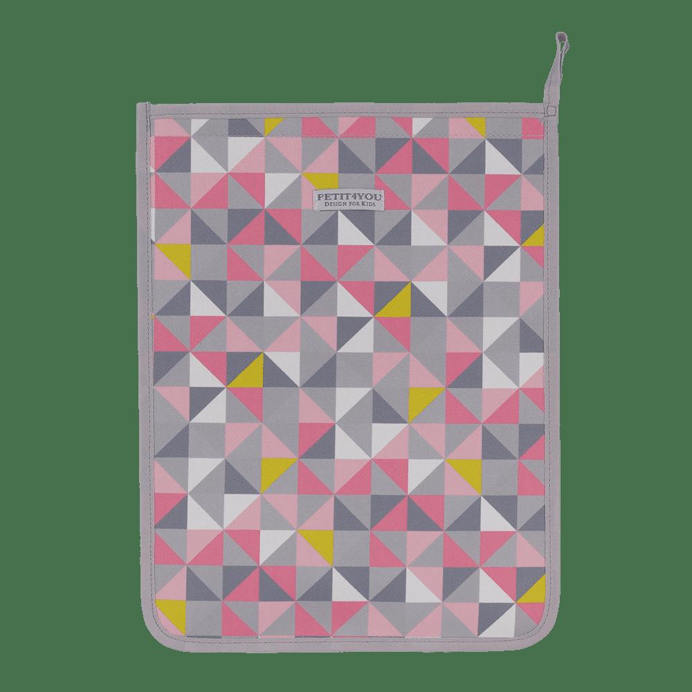 Saco de roupa geometric rosa