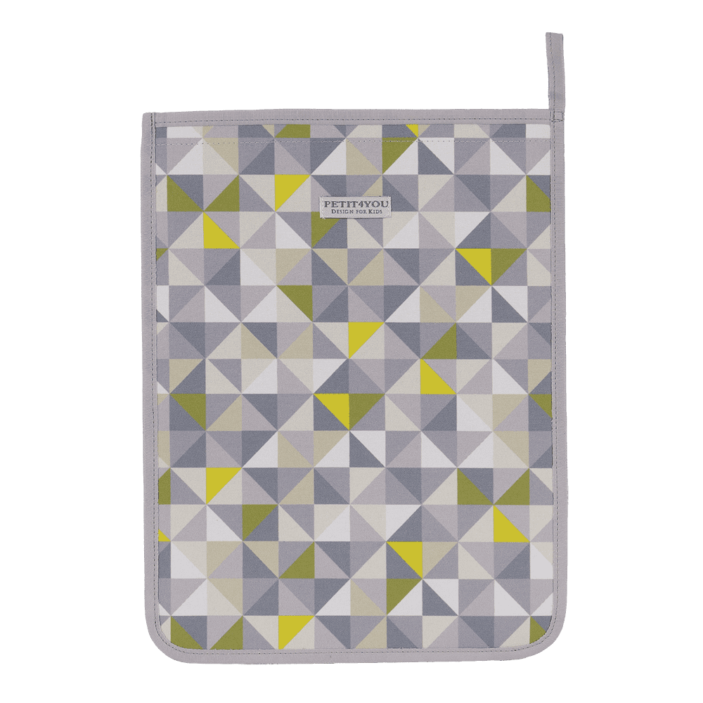 Saco de roupa geometric verde