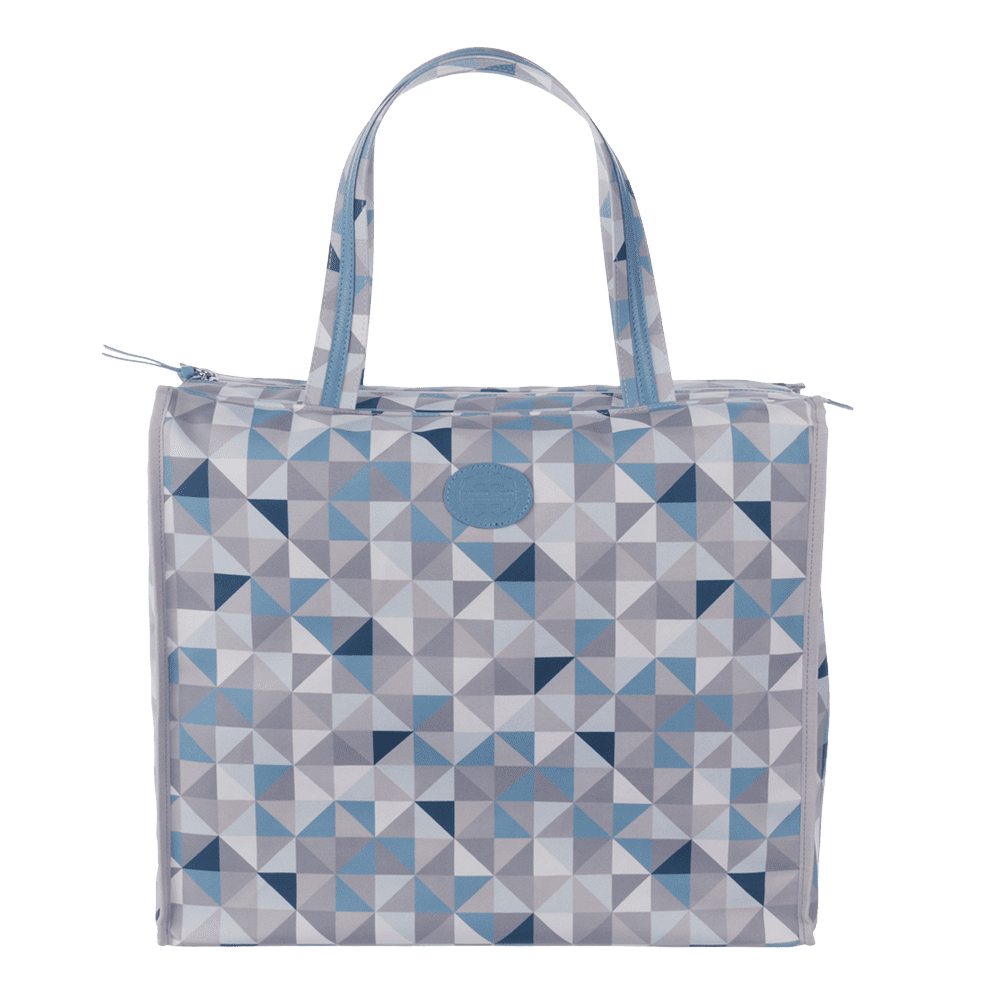 shopbag geometric azul