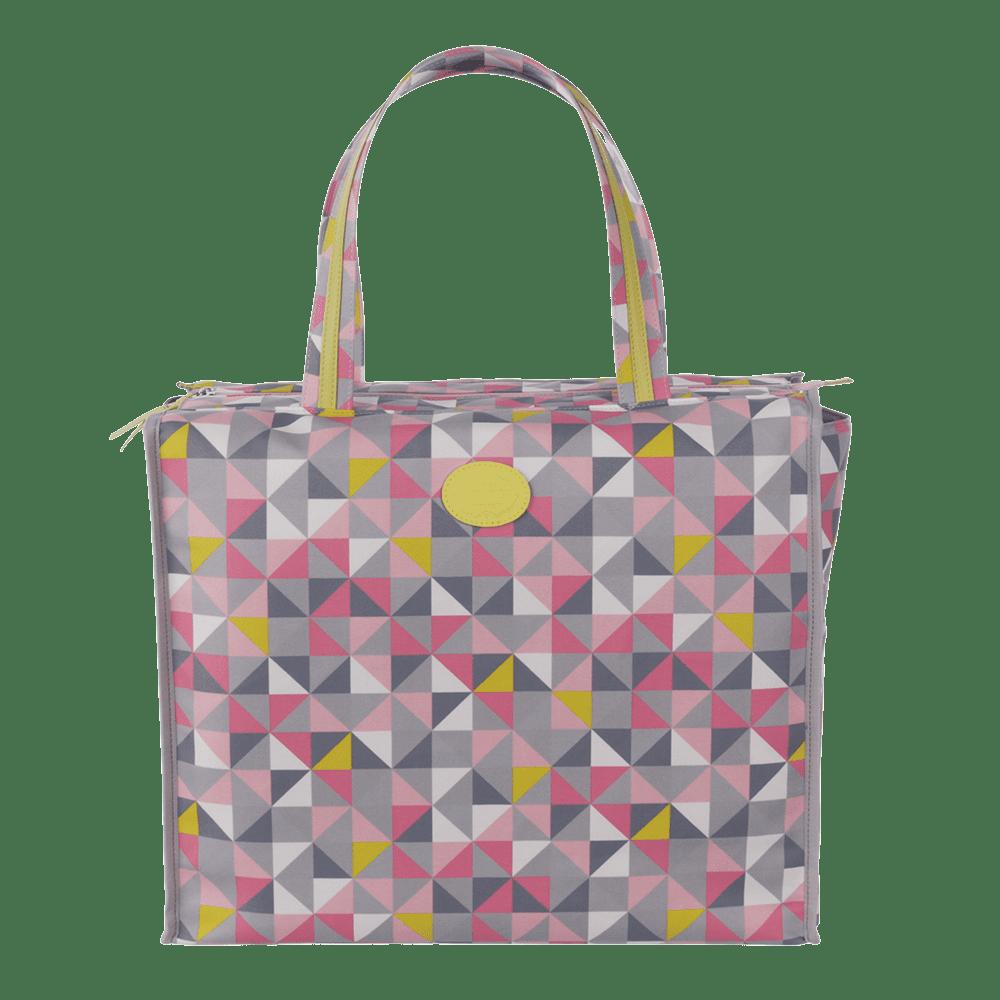 shopbag geometric rosa