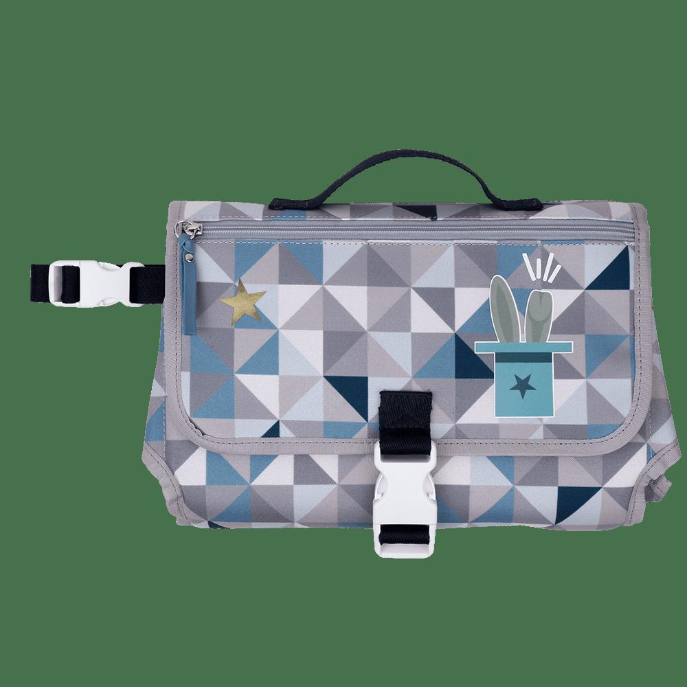 Trocador Geometric Azul