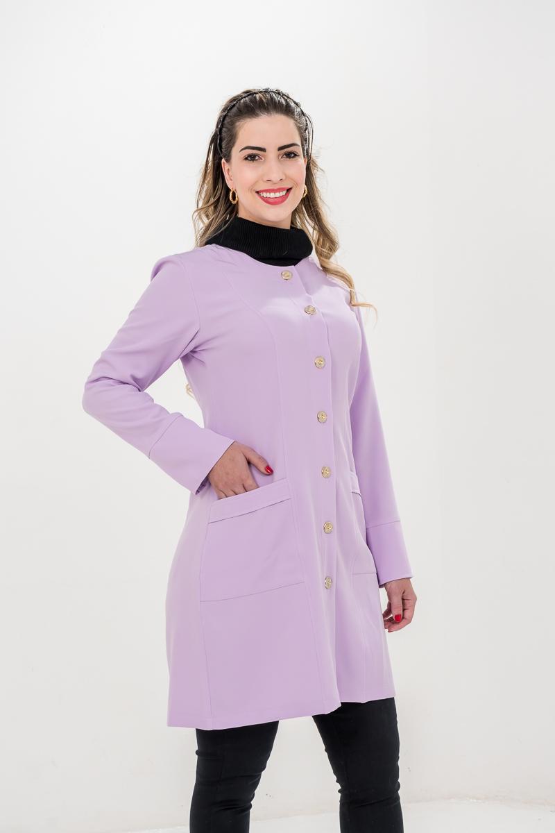 Jaleco Agatha  - Luxo Branco - Jalecos Personalizado Feminino