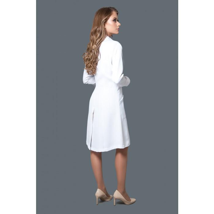 Jaleco Alfaiataria New Look  - Luxo Branco - Jalecos Personalizado Feminino