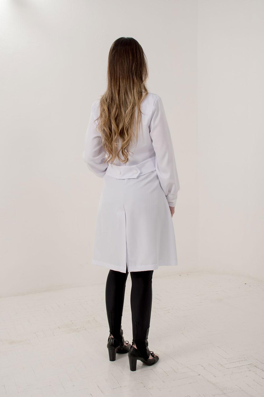 JALECO  ALINE  - Luxo Branco - Jalecos Personalizado Feminino