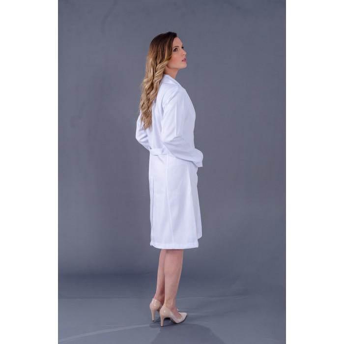 Jaleco Básico Gabardine  - Luxo Branco - Jalecos Personalizado Feminino
