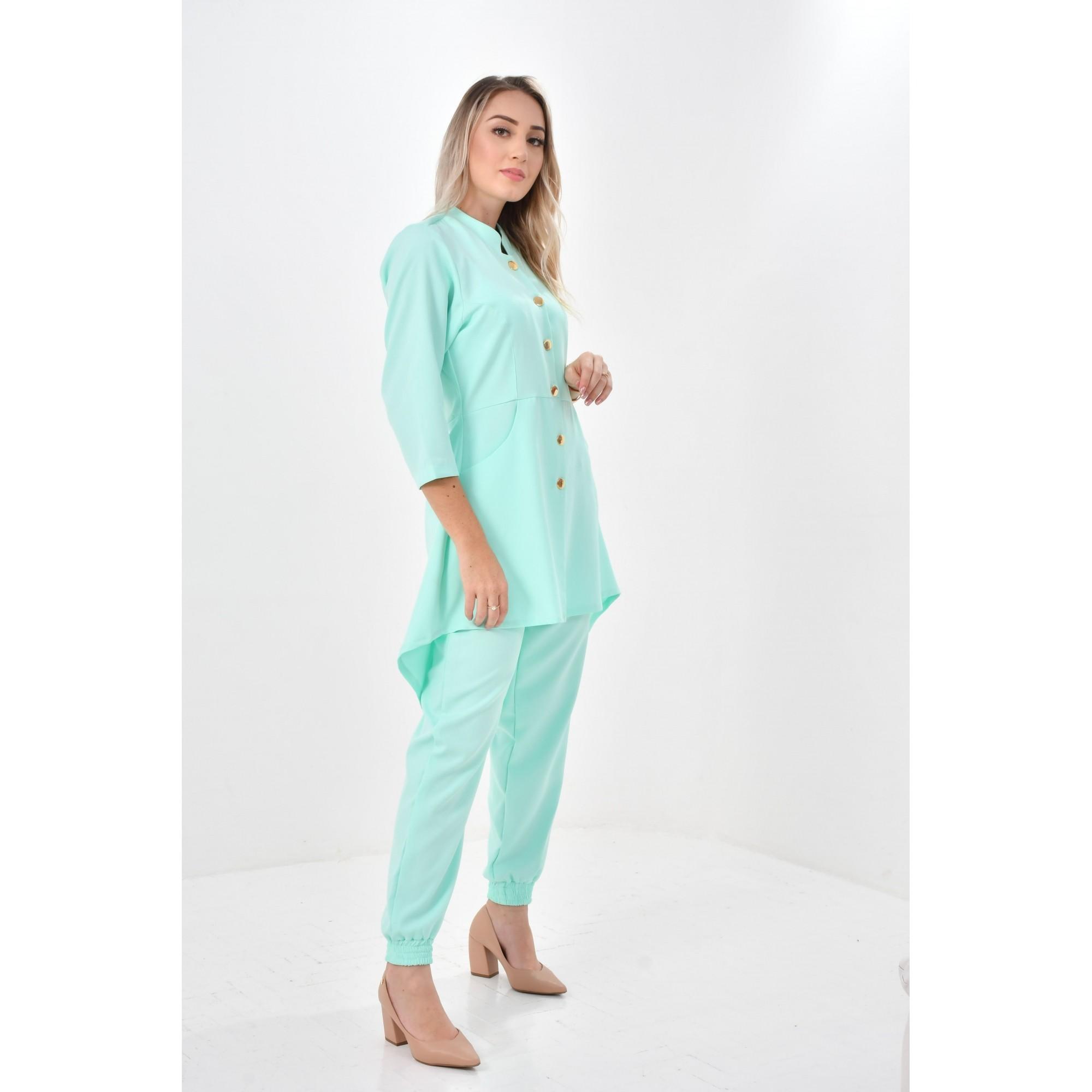 Jaleco Beatriz  - Luxo Branco - Jalecos Personalizado Feminino