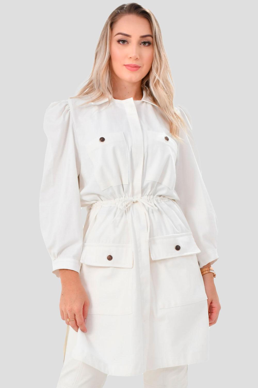 Jaleco Bianca  - Luxo Branco - Jalecos Personalizado Feminino