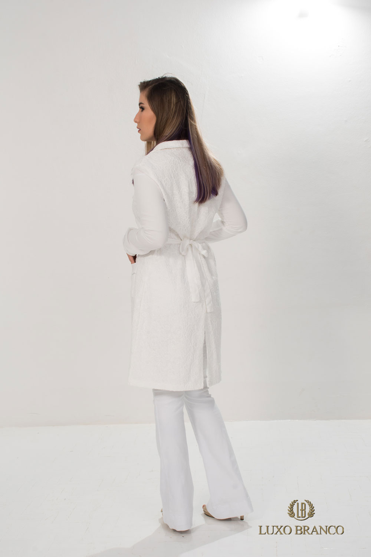 Jaleco Blenda  - Luxo Branco - Jalecos Personalizado Feminino