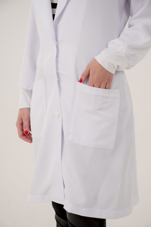 JALECO CAROLINA  - Luxo Branco - Jalecos Personalizado Feminino