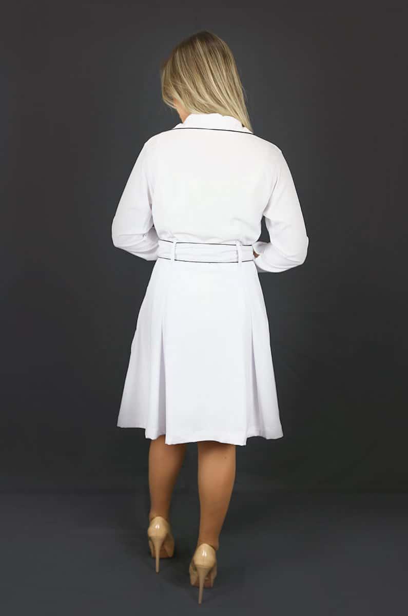 Jaleco Cristal  - Luxo Branco - Jalecos Personalizado Feminino