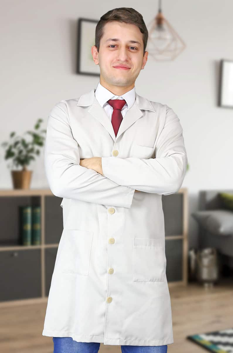 Jaleco Jadson Masculino  - Luxo Branco - Jalecos Personalizado Feminino