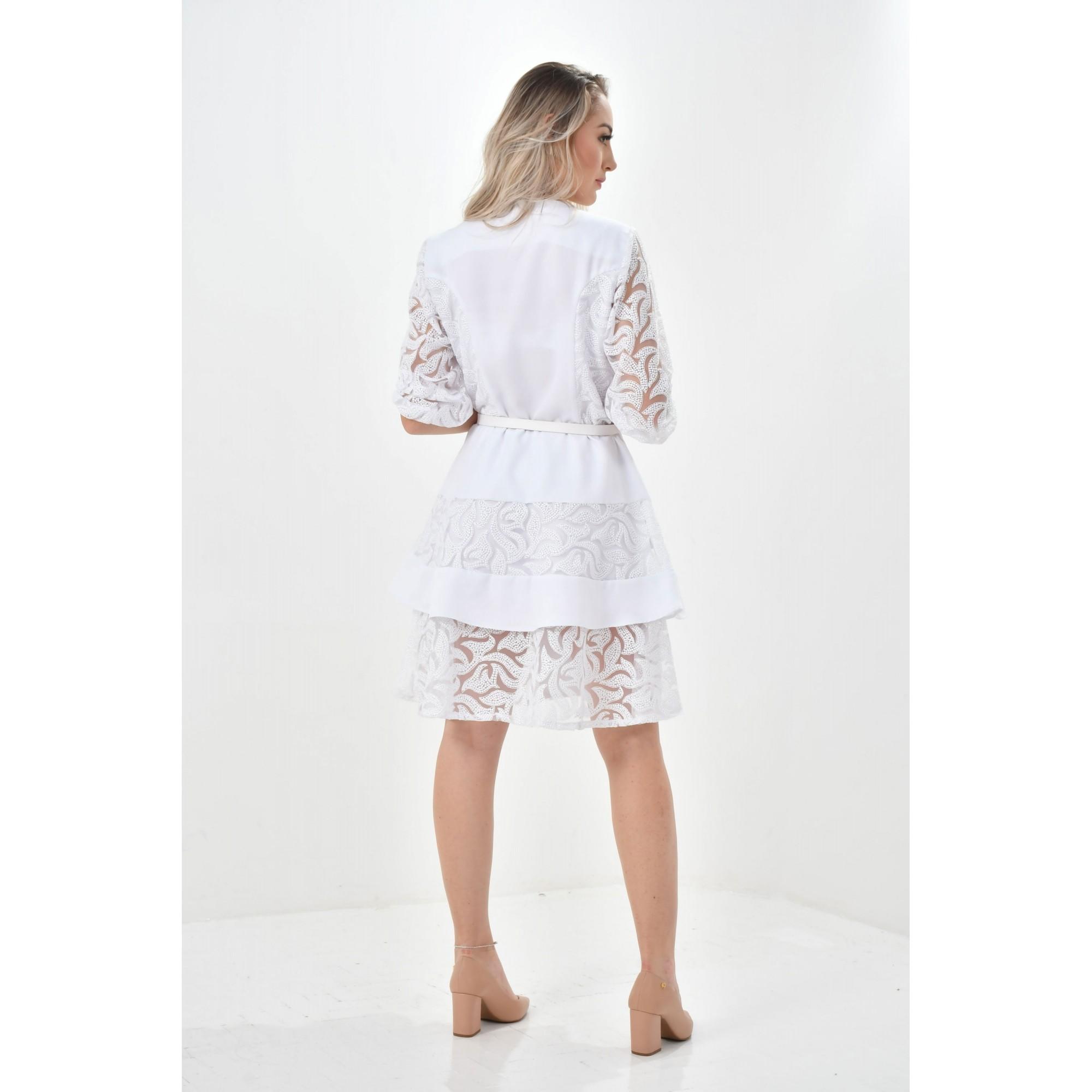 Jaleco Natalia - Edição Limitada  - Luxo Branco - Jalecos Personalizado Feminino