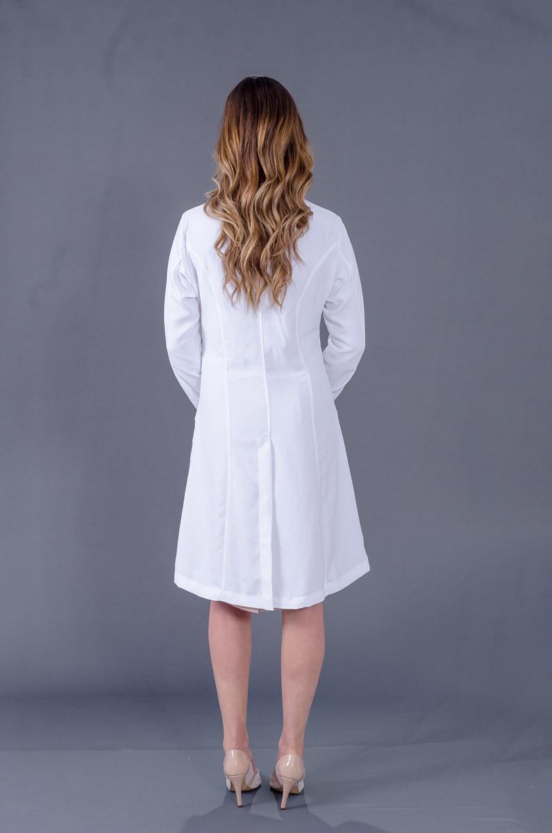 Jaleco Patu Pascoale Transpassado Com Laço  - Luxo Branco - Jalecos Personalizado Feminino