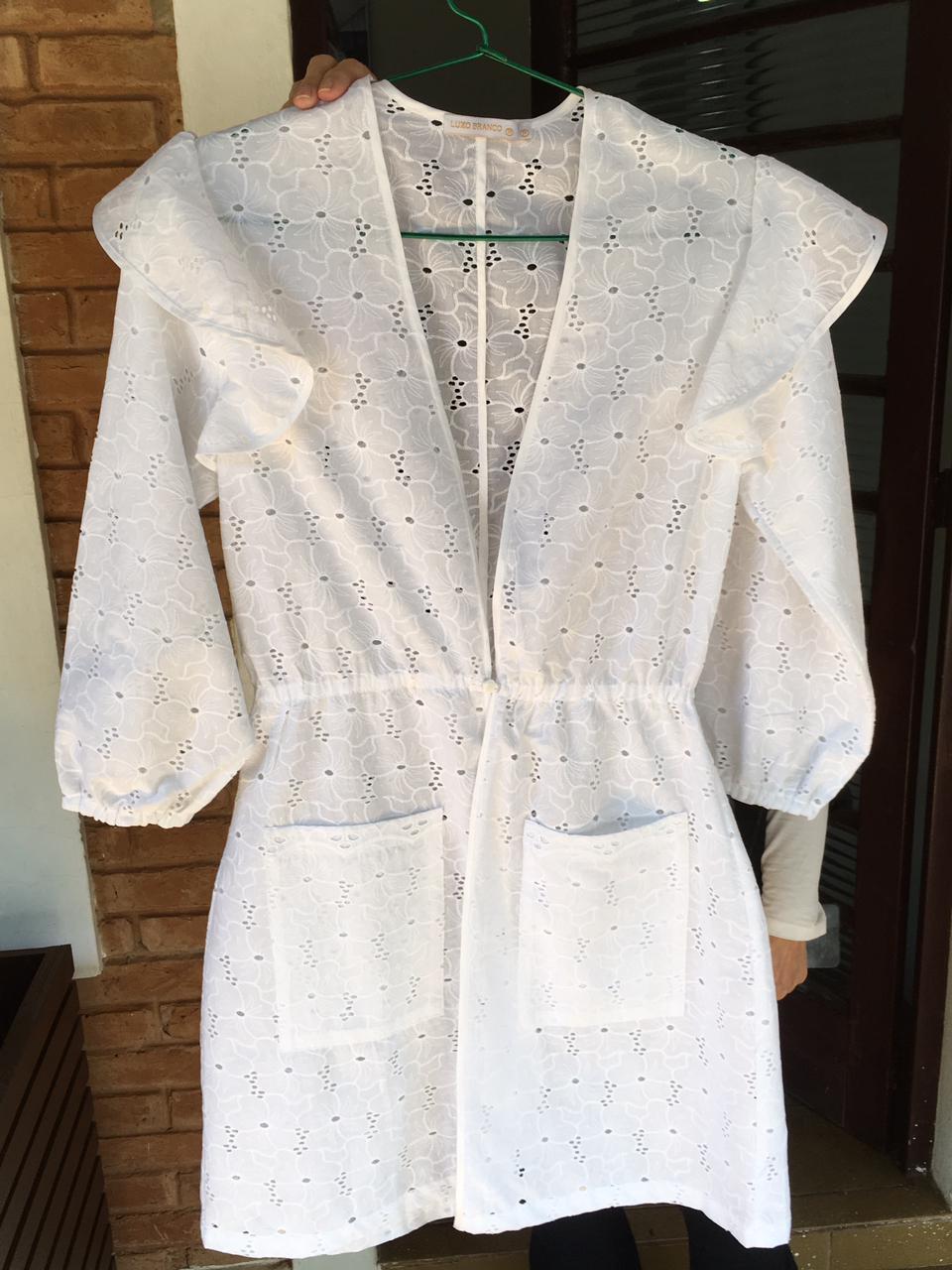 Jaleco Silvia  - Luxo Branco - Jalecos Personalizado Feminino