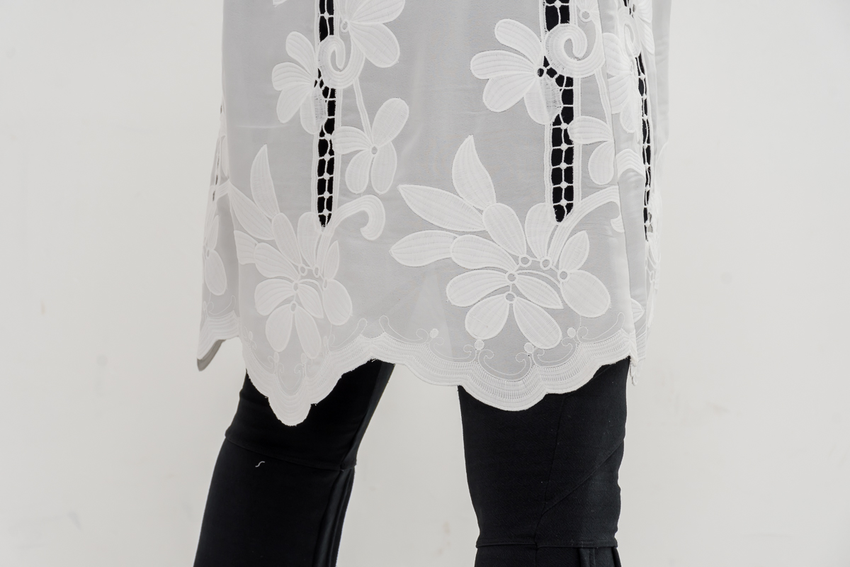 Jaleco Topázio  - Luxo Branco - Jalecos Personalizado Feminino