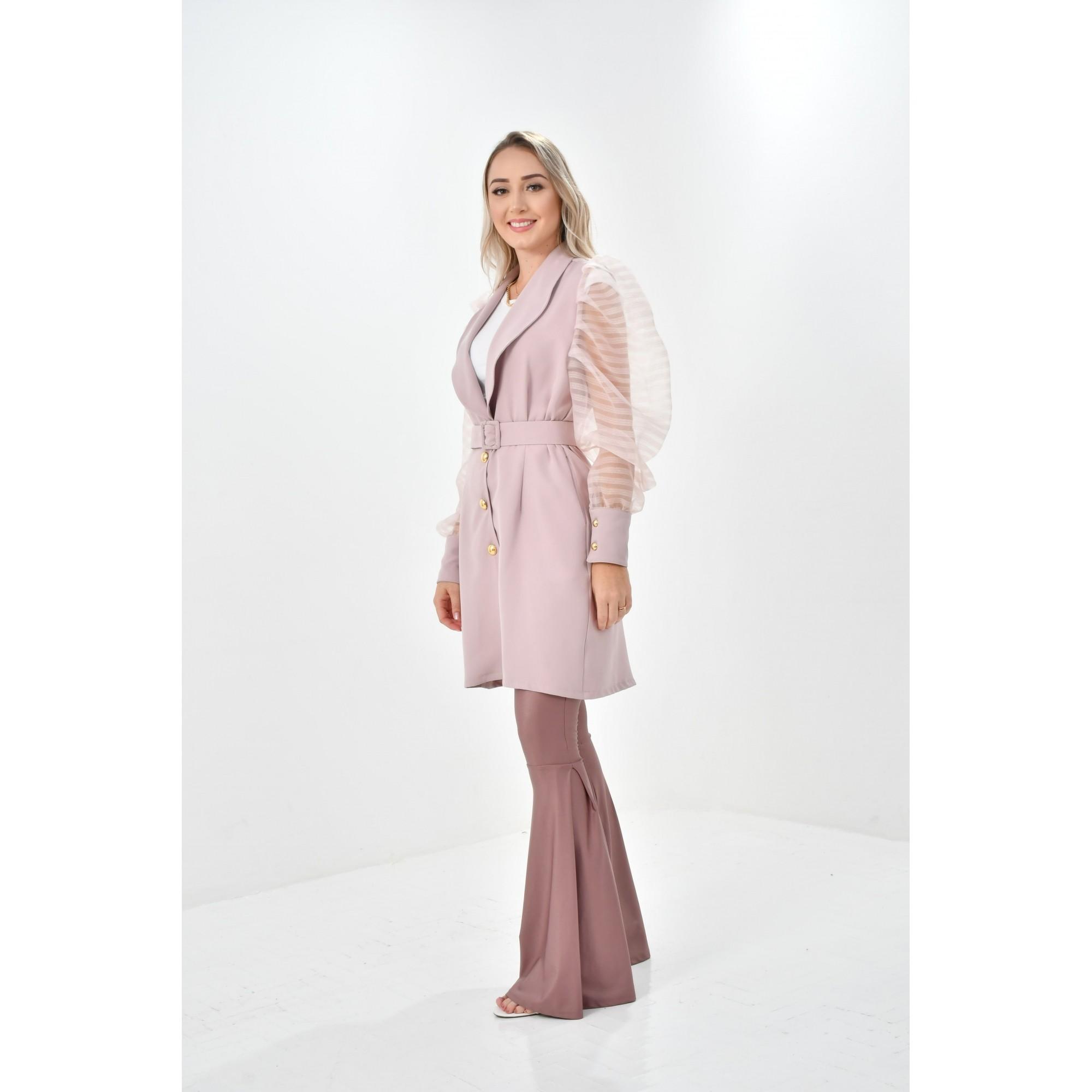 Jaleco Vitória  - Luxo Branco - Jalecos Personalizado Feminino