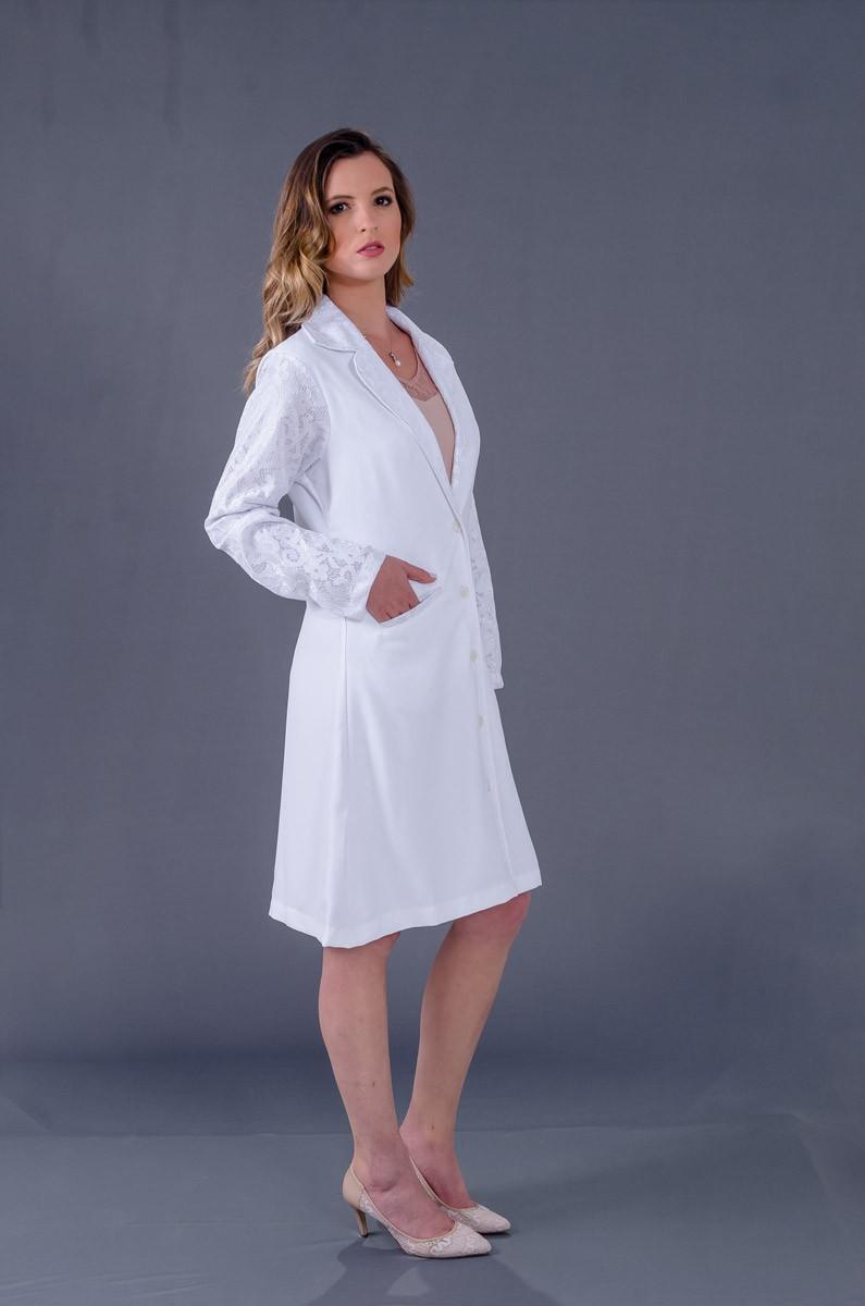 Patu Pascoale Bonded  - Luxo Branco - Jalecos Personalizado Feminino