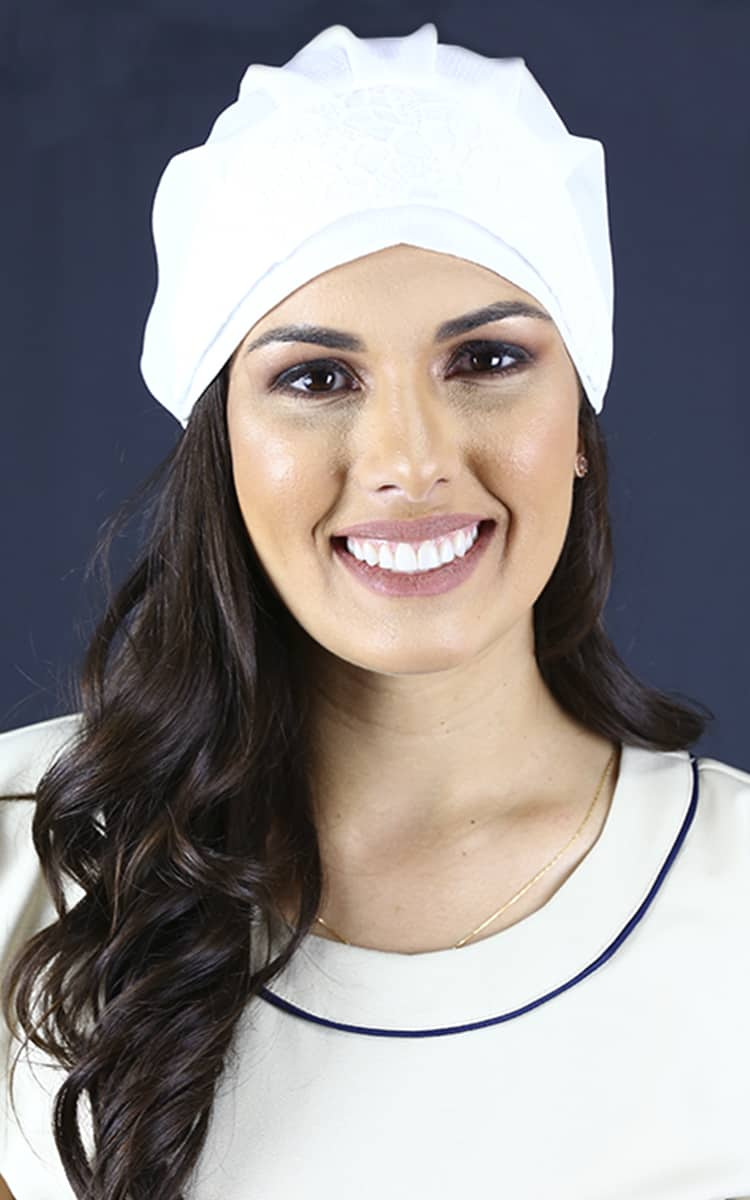 Touca Buble  - Luxo Branco - Jalecos Personalizado Feminino