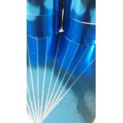 Papel Laminado Azul 250g - c/10 fls Tamanho - 21,0 x 29,7
