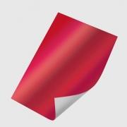 Papel Laminado Vermelho 250g - c/20 fls Tamanho - 21,0 x 29,7