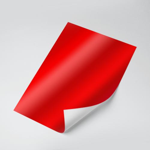 Cartolina Laminada (Vermelho) 150g - c/20 fls Tamanho - A4