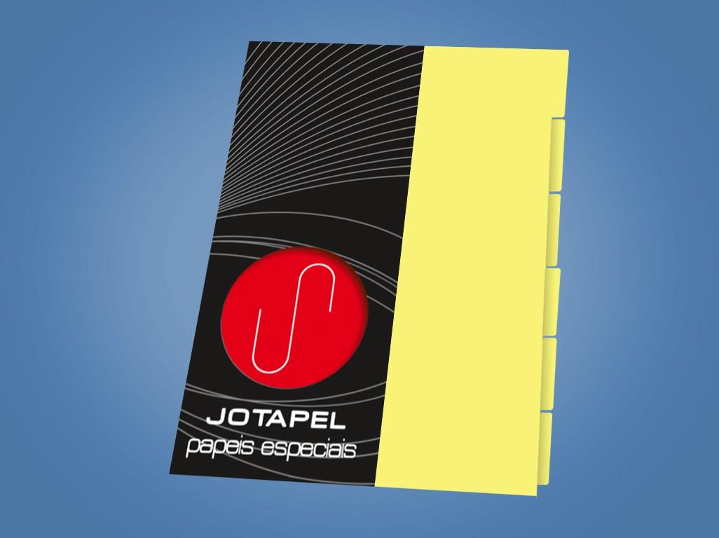 Divisoria fichario Amarelo A4 - 04 f c/06fls
