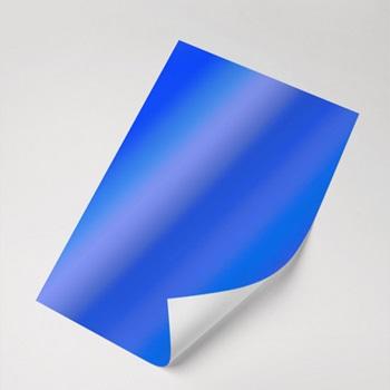 Papel Laminado Azul 250g - c/20 fls Tamanho - 21,0 x 29,7