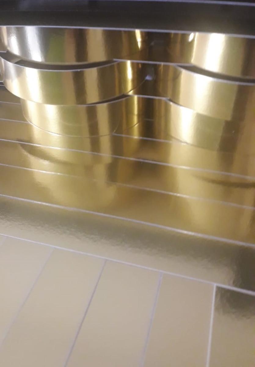 Papel Laminado Ouro 250g - c/10 fls Tamanho - 21,0 x 29,7