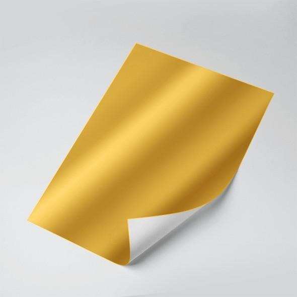 Papel Laminado (Ouro) 250g - c/20 fls Tamanho - A4