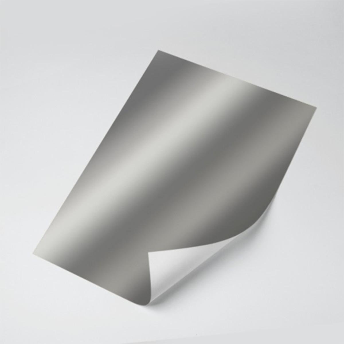 Papel Laminado Prata 250g - c/10 fls Tamanho - 21,0 x 29,7