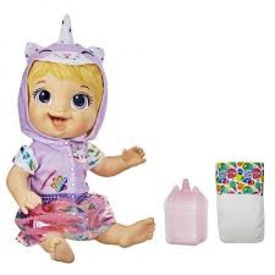 Boneca Baby Alive Tinycorn Bebê Unicórnio Gatinha Loira