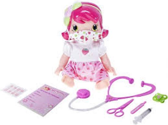 Boneca Baby Moranguinho Dodói Com Mascara E Acessorios