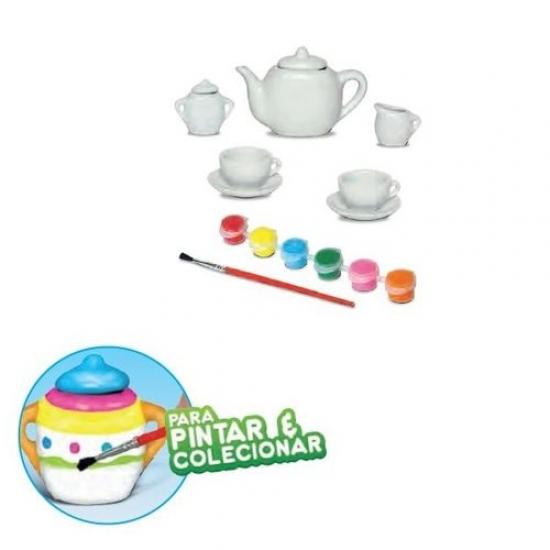 Conjunto de Chá 9 Peças Art & Craft para Pintar