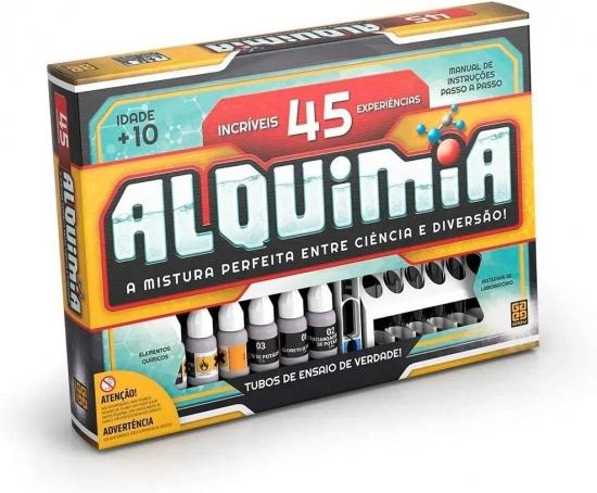 Kit Alquimia 45 Experiências Químicas De Verdade Grow Novo