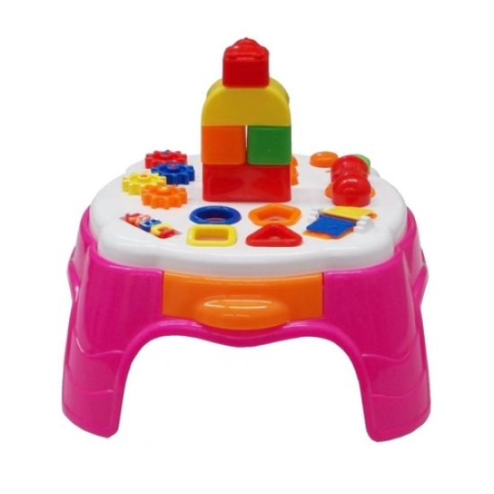 Play Time Mesa Atividades Rosa - Cotiplás 2049