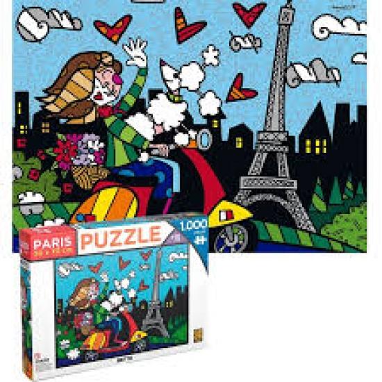 Quebra Cabeça 1000 Peças Romero Brito- Paris