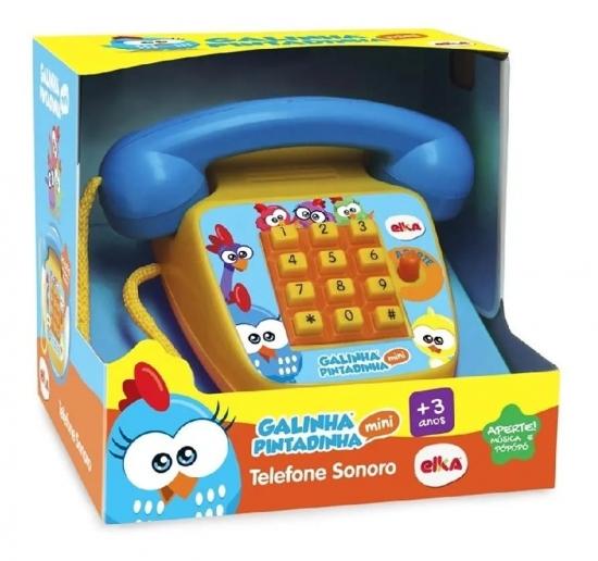 TELEFONE SONORO GALINHA PINTADINHA MINI
