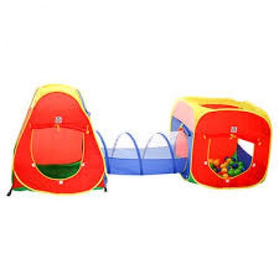 Toca Infantil 3 Em 1 Com Tunel Barraca Infantil Com Bolinhas