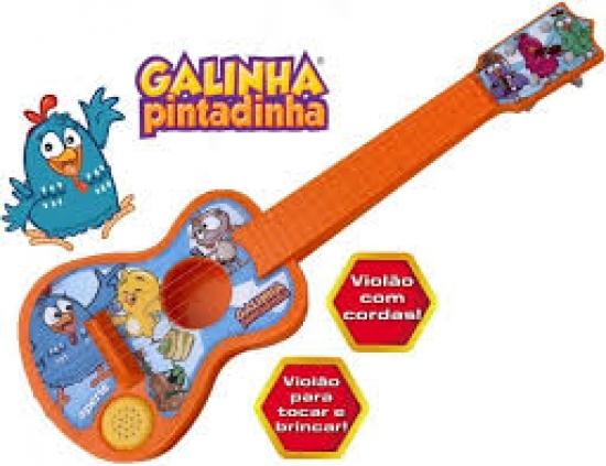Violão Sonoro Galinha Pintadinha
