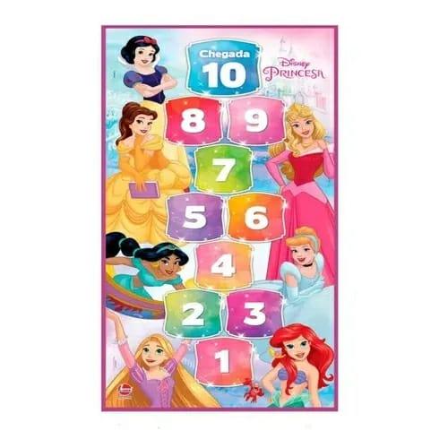 Amarelinha Princesas Tapete Infantil De Atividades Educativo