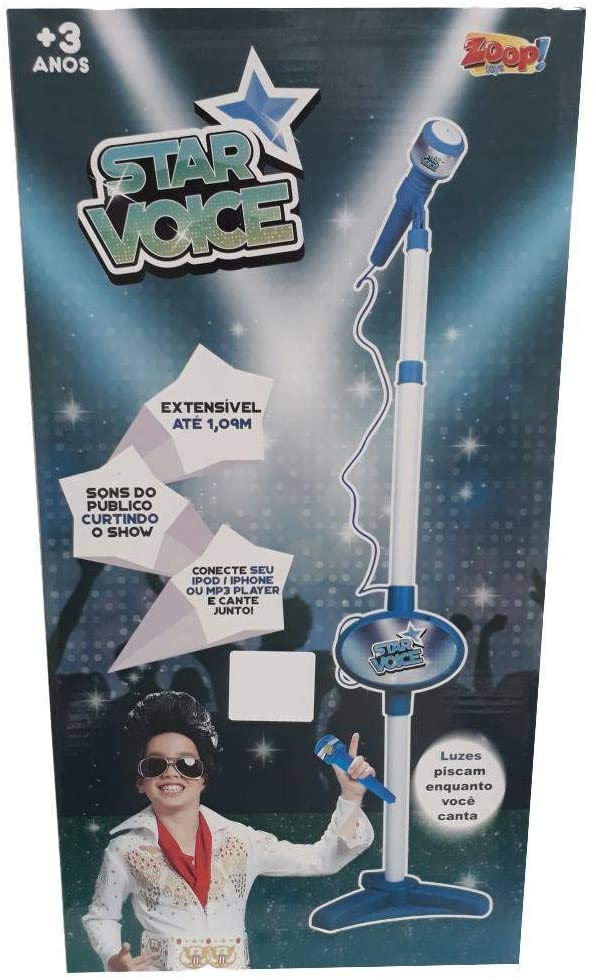 Azul Rock Star Microfone Infantil