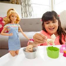 Boneca Barbie Conjunto Banho de Cachorrinhos