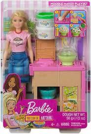 Boneca Barbie E Playset Maquina De Macarrao Da Mattel Ghk43