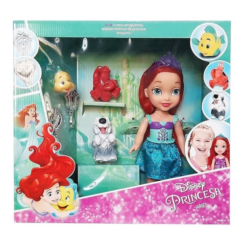 Boneca Minha Primeira Princesa Arie C/ Pet E Acessórios