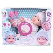 Boneca Miyo Menina Com Som De Bebê Abre Fecha Olho Original