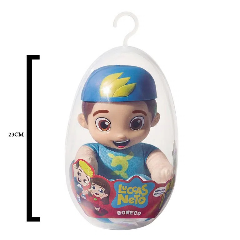 Boneco Luccas Neto No Ovo- Baby Bink- 23 cm