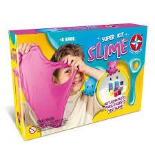 Brinquedo Conjunto De Artes Super Kit Slime Infantil Estrela